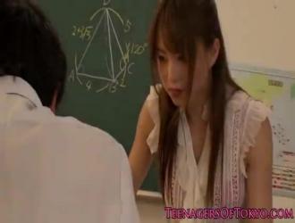 ايمو المعلم تقوم بعملها أفضل من معلمها في كس حريصة