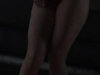 تيني سانت تكساس تنشر ساقيها أمام زوجها